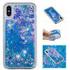 Built-In Pattern Painted Quicksand Phone Case for iPhone X - MULTI-D