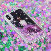 Built-In Pattern Painted Quicksand Phone Case for iPhone X - MULTI-E