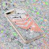 Built-In Pattern Painted Quicksand Phone Case for iPhone 8 Plus/7 Plus - MULTI-F