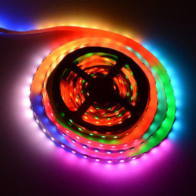 HML 5M 5V WS2812B 5050 x 300 SMD RGB Dream Kolor LED Strip Light-w / 14 Key RF USB