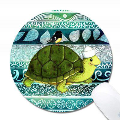 Turtle Color Printed Round Non Slip Rubber Mouse Pad