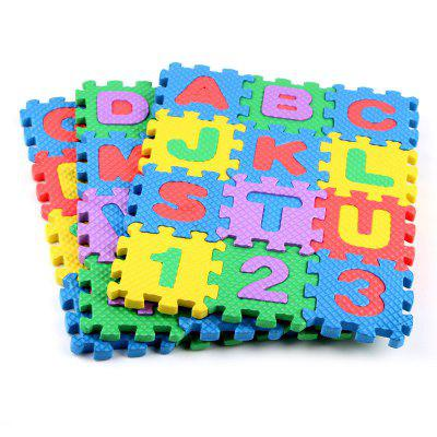 Baby Colorful EVA Foam Alphabet Letters Numbers Mat Jigsaw Puzzle 36PCS