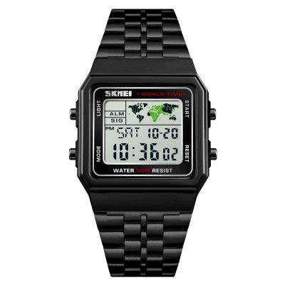 SKMEI Men Fashion Digital Countdown Impermeabile Sport Orologio da polso 12 / 24Orario