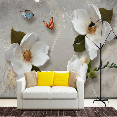 Mural Wallpaper Canvas Wall Covering Adhesive Required 3D Pattern  Flower
