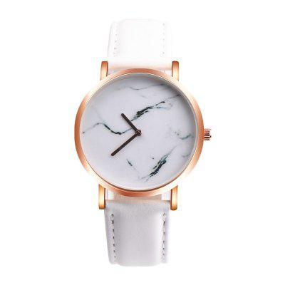 New Fashion Lady Marble Simple Ink Painting No Second Needle Quartz Watch