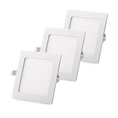 ZDM 3PCS 3-6W Square Ultrathin LED empotrada luz del panel AC85-265V