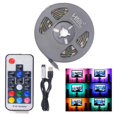 HML 5V 1M USB RGB Light IP65 LED λωρίδα φωτισμού με 17Key RF Remote Controller