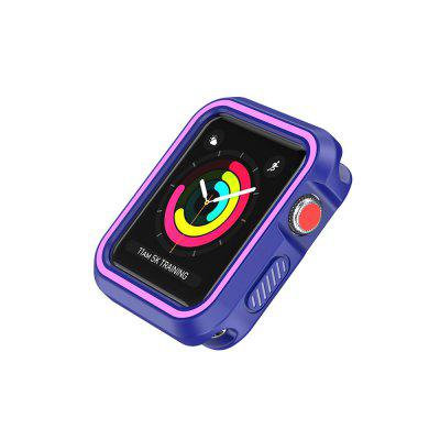 Stylish Dual Layer cu capac de protecție complet pentru Apple Watch 42MM Soft Shell