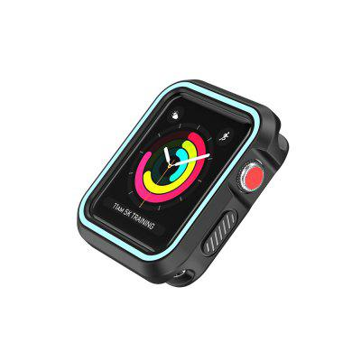 Stylish Dual Layer Full Protective Cover Case for Apple Watch 42MM Soft Shell