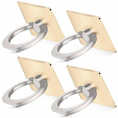 4 PCS Cell Phone Ring Holder Stand Metal - CHAMPAGNE GOLD from Gearbest