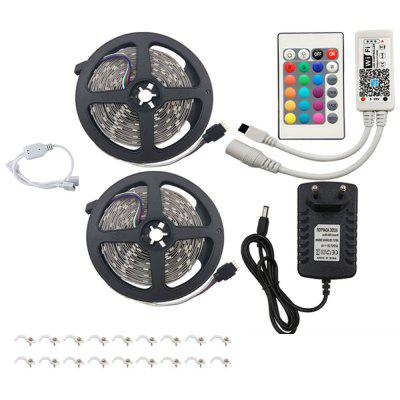 2 x 5M LED-stripverlichting Kit 5050 RGB met WIFI-controller 3A-voeding