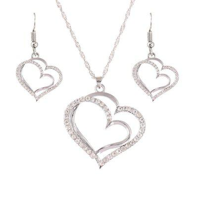 Princess Bride Bridesmaid Romantic Wedding Creative Necklace Earring Set Fashion