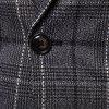 Men's Casual One Button Slim Fit Plaid Blazer - GRAY