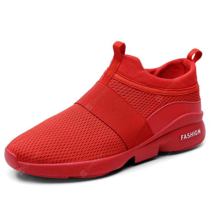 Giày thể thao hạng nhẹ nam giới Breathable Slip on Casual Shoes Giày dép - RED 40