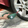 Portable Air Compressor Auto Tire Inflator Pump Car Tool Handheld for Outdoor - ARMY GREEN