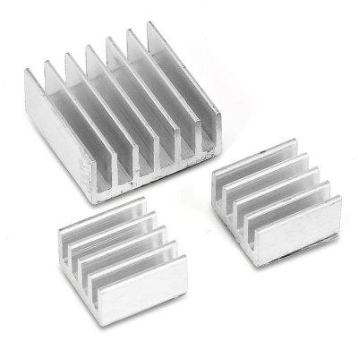 3pcs Aluminum Heatsink Radiator Cooler Cooling Kit for Raspberry Pi велосипед stels tornado v 26 15 19 тём серый серебр зелёный