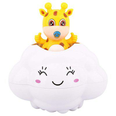 Deer Hide in Rain Cloud Kids Baby Bath Shower Swimming Water Floating Toy