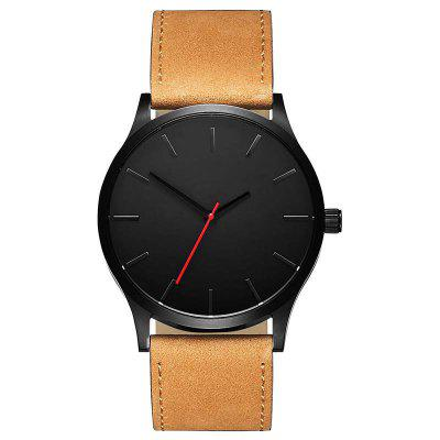 Large Dial Luxury Brand Men Sports Quartz Watches Clock Leather Wristwatch лазерный дальномер cem ldm 80h