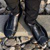ZEACAVA New Wild Leather Breathable Casual Shoes - BLACK