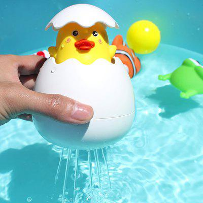 Baby Kids Yellow Duck Broken Egg Pulling Water Shower Bath Floating Toy