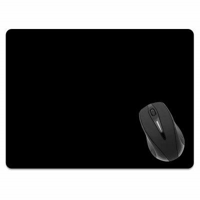все цены на Non-Slip Rectangle Solid Black Mouse Pad for Home Office and Gaming Desk онлайн