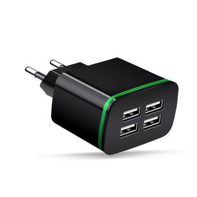 Cwxuan 5V 4A LED Glowing 4-Port USB Charger Adapter