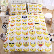 New High Quality Facial Expression Bedding Set of Three