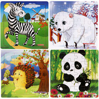 Wooden Puzzle Jigsaw  Toys for Children 4PCS