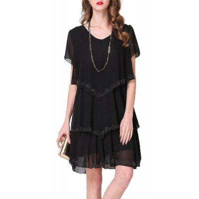 Summer Large Size Women'S Stitching Fashion Loose Dress