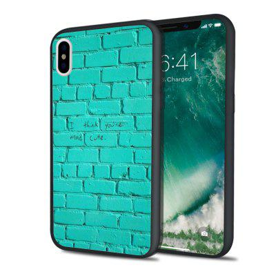 Green Paper Embossment Soft Hard Seal Phone Case for iPhone X