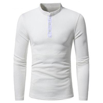 Men's Stand Collar Casual Slim Long Sleeve T-Shirt