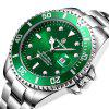 Laogeshi Men Automatic Mechanical Stainless Steel Calendar Military Watch - GREEN