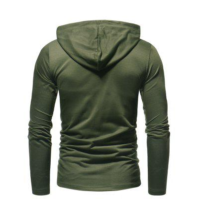 Long Casual Men's Fashion Color Solid Hooded r55TqxXA