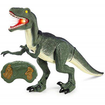 Remote Control Velociraptor RC Walking Dinosaur Lights and Sounds Kid Pet Toy