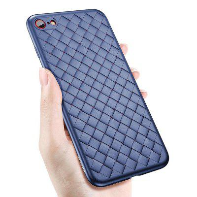 Super Soft Phone Case for iPhone 7/8 Luxury Grid Weaving Cover Silicone