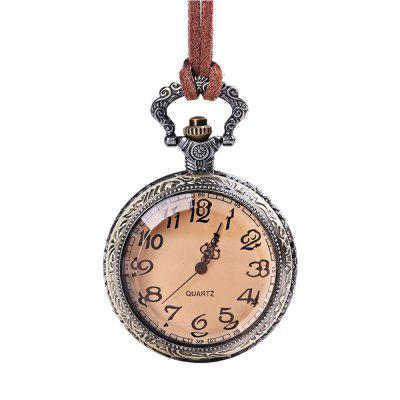 Sazonal 3152444 Bronze em relevo Lace Tan Flip transparente Pocket Watch