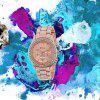 V5 Women Fashion Plated Classic Round Crystals Quartz Watch - MULTI-C