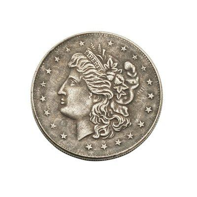 Eagle Pattern Old Brass Foreign Silver Dollar Bick Commemorative Coin