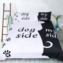 New High-Quality Black and White Simple Series Bedding Three-Piece