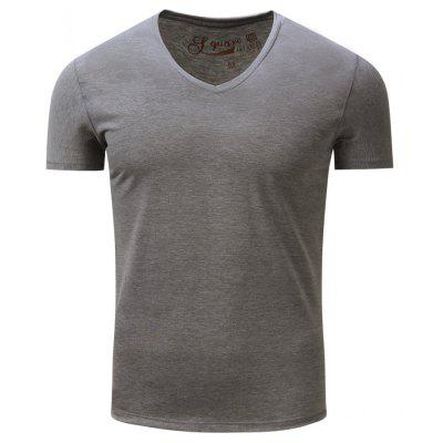 FREDD MARSHALL Men's Short Sleeve Solid Color T-Shirt