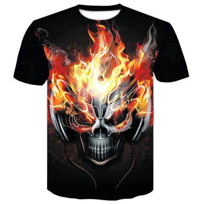 King Leoric Rock 3D Print Men'S Casual Short Sleeve Graphic Tee T-Shirt