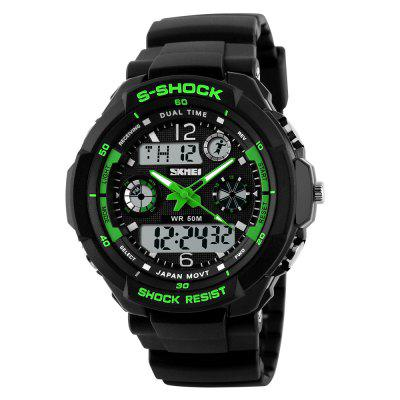 SKMEI Men Fashion  Dual Display Sport Watch Waterproof Electronic LED Clock