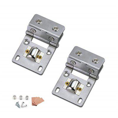 Pivot Hinge Kit Zinc Alloy Shower Hinge Glass Door Double Clamp Clip 2pcs