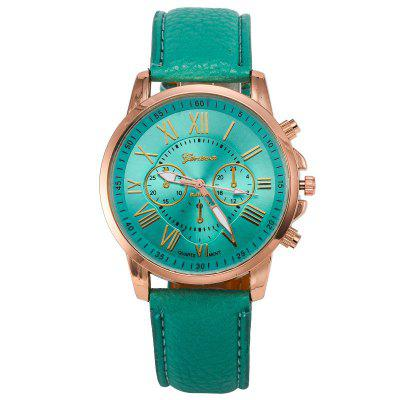 Casual Fashion Three-eye Double-faced Belt Unisex Watch