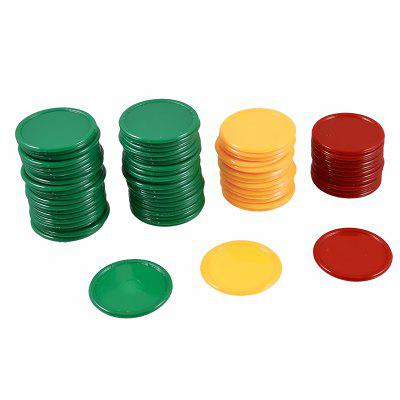 68PCS Game Chips Plastic Learning Counting Counters Tokens Mini Poker
