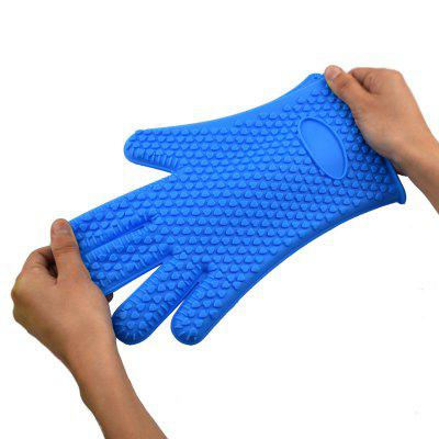 Silicone Gloves Kitchen Baking Anti-Scalding Insulation High Temperature 1PCS