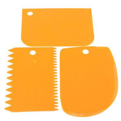 DIY Cream Scraper Set Cake Mold Tools 3PCS