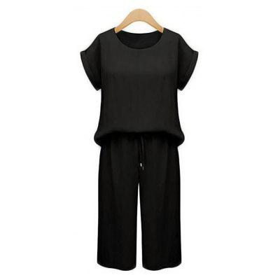 Large Size Women's Wide Leg Pants Two-Piece Loose Sports Suit