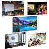 60 Inch 16:9 Collapsible White Portable Projector Screen - WHITE