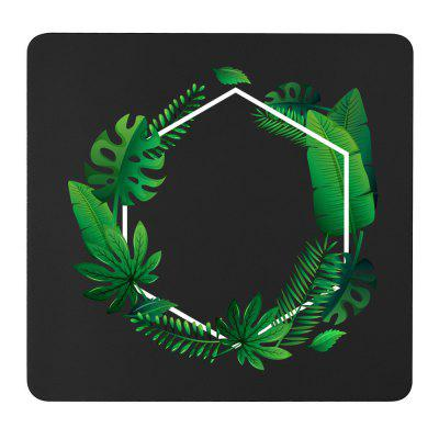 Non-Slip Round Round Leaves Pad do Home Office i Gaming Desk